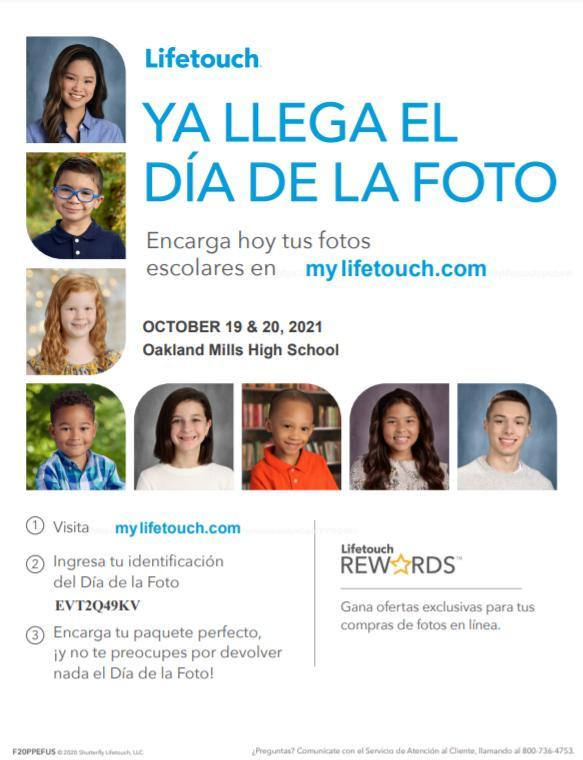 Picture Day flier in Spanish
