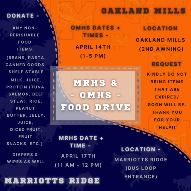Flyer for the NHS Food Drive
