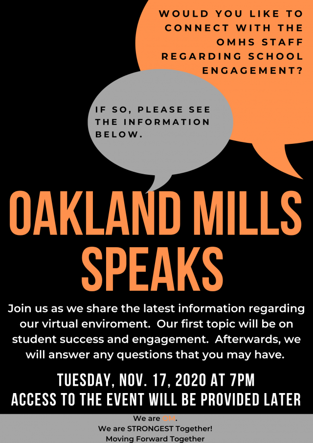 OM Speaks Flyer.   Great opportunity to hear about our virtual model and how to engage students.