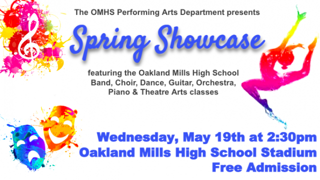 Poster for the OMHS Spring Showcase